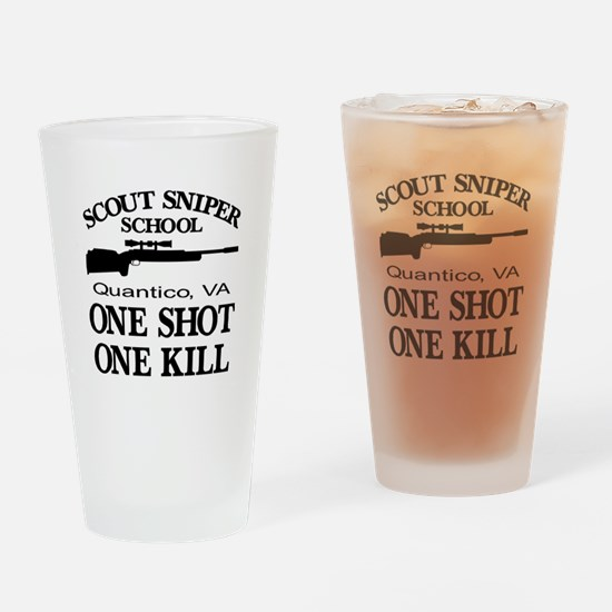 Scout-Sniper School Drinking Glass
