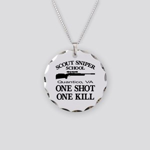 Scout-Sniper School Necklace Circle Charm