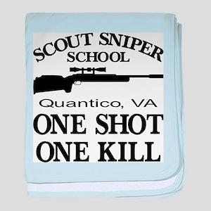 Scout-Sniper School baby blanket