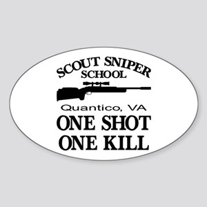 Scout-Sniper School Sticker (Oval)