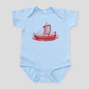 Cool Vintage Viking Ship Design Infant Bodysuit