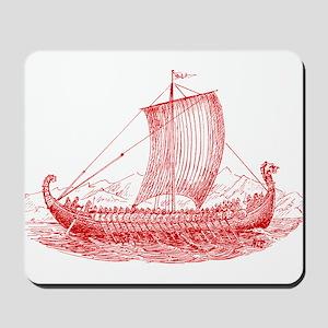Cool Vintage Viking Ship Design Mousepad