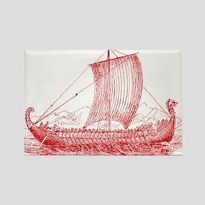 Cool Vintage Viking Ship Design Rectangle Magnet