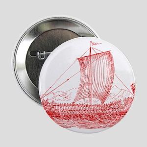 "Cool Vintage Viking Ship Design 2.25"" Button"