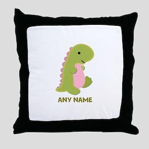 Customizable Dinosaur Print Throw Pillow