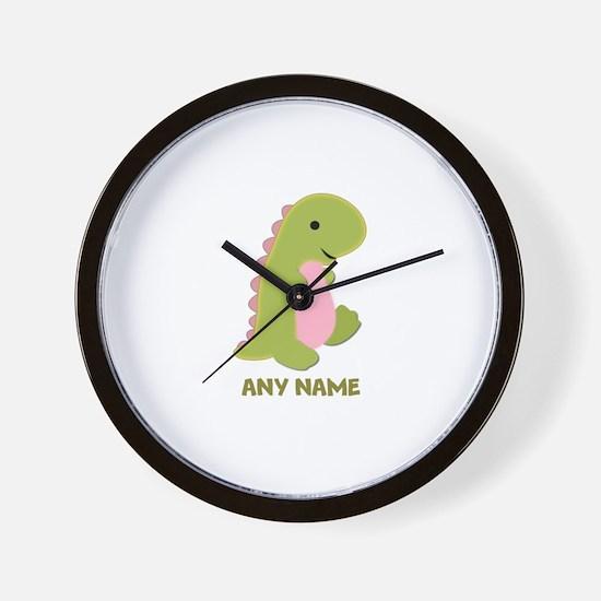 Customizable Dinosaur Print Wall Clock