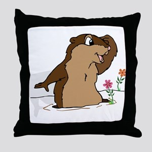 Groundhog Day Shadow Throw Pillow