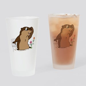 Groundhog Day Shadow Drinking Glass