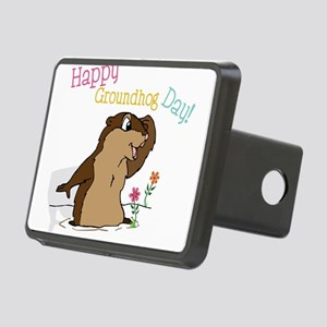 Happy Groundhog Day Rectangular Hitch Cover