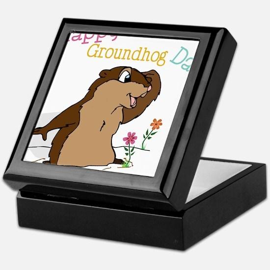 Happy Groundhog Day Keepsake Box