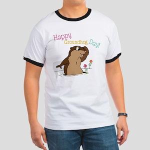 Happy Groundhog Day Ringer T