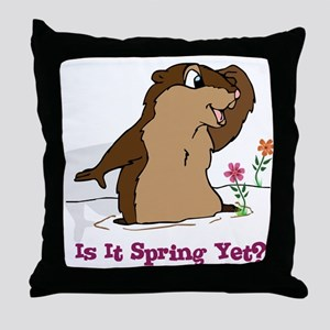 Is It Spring Yet Throw Pillow