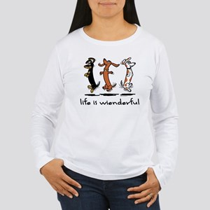 Life Is Wienderful Long Sleeve T-Shirt