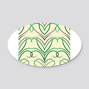 Feather Print Oval Car Magnet