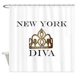 NY DIVA Shower Curtain