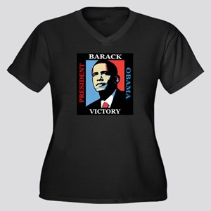 Barack Obama Victory Women's Plus Size V-Neck Dark