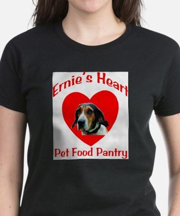 Ernie's Heart Logo Women's Dark T-Shirt