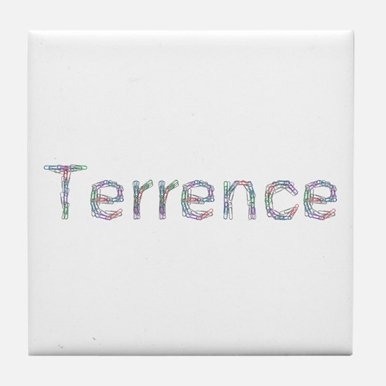 Terrence Paper Clips Tile Coaster