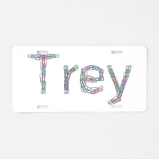 Trey Paper Clips Aluminum License Plate