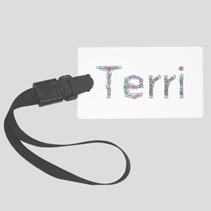Terri Paper Clips Large Luggage Tag