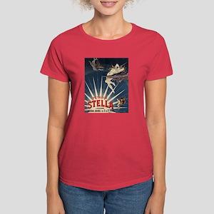 Vintage French Poster Women's Dark T-Shirt
