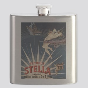 Vintage French Poster Flask