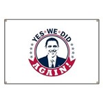 Obama Yes We Did Again Color Banner