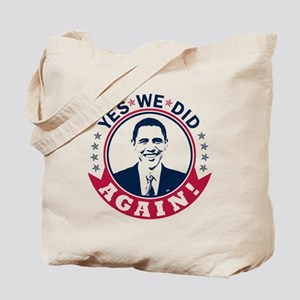 Obama Yes We Did Again Color Tote Bag