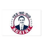 Obama Yes We Did Again Color Postcards (Package of