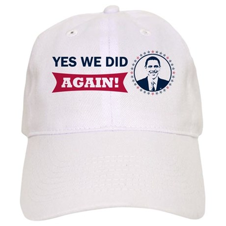 Obama Yes We Did Again Color Cap