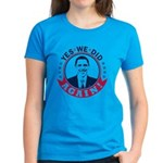Obama Yes We Did Again Color Women's Dark T-Shirt