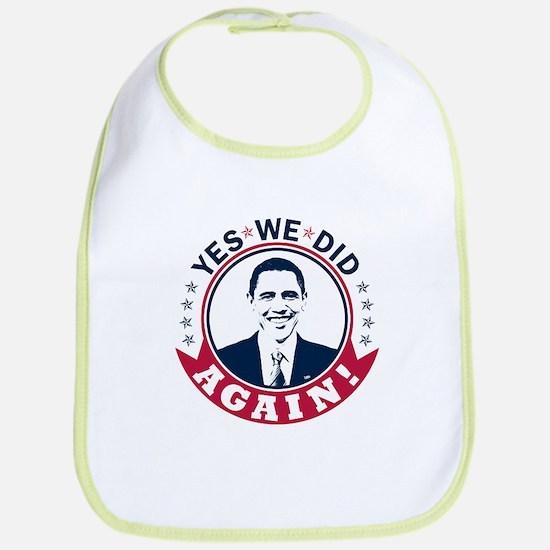 Obama Yes We Did Again Color Bib
