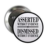 """Dismissed Without Evidence Atheist 2.25"""" Butt"""