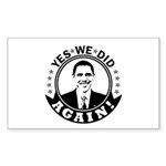 Obama Yes We Did Again BW Sticker (Rectangle 50 pk