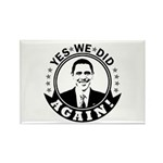 Obama Yes We Did Again BW Rectangle Magnet (10 pac