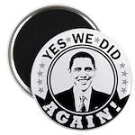 Obama Yes We Did Again BW 2.25