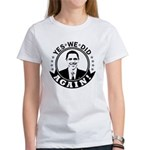 Obama Yes We Did Again BW Women's T-Shirt