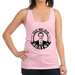 Obama Yes We Did Again BW Racerback Tank Top