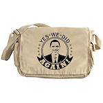 Obama Yes We Did Again BW Messenger Bag