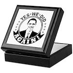 Obama Yes We Did Again BW Keepsake Box