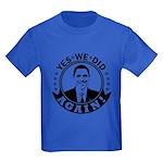 Obama Yes We Did Again BW Kids Dark T-Shirt