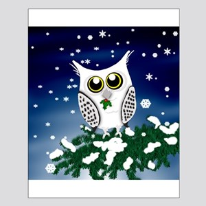 Christmas Snowy Owl Small Poster