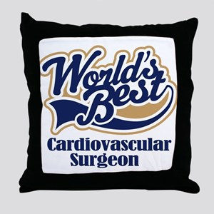 Cardiovascular Surgeon (Worlds Best) Throw Pillow