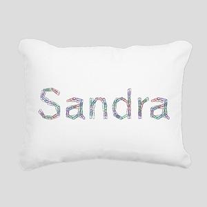 Sandra Paper Clips Rectangular Canvas Pillow