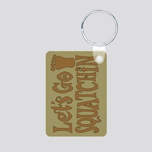 Lets go Squatchin Brown Aluminum Photo Keychain
