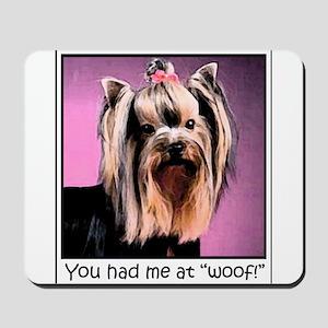 Yorkshire Terrier Yorkie Pop Art Fres Mousepad