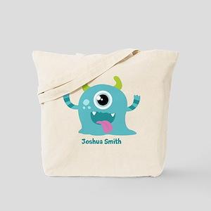 Blue Monster Tote Bag
