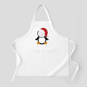Santa Penguin Christmas Apron