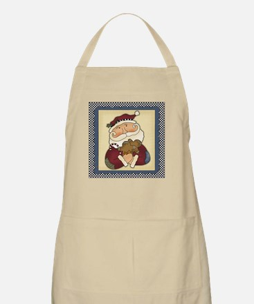 Whimsical Santa Claus with Gingerbread Apron