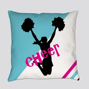 Aqua | Pink Cheerleader Cheer Everyday Pillow